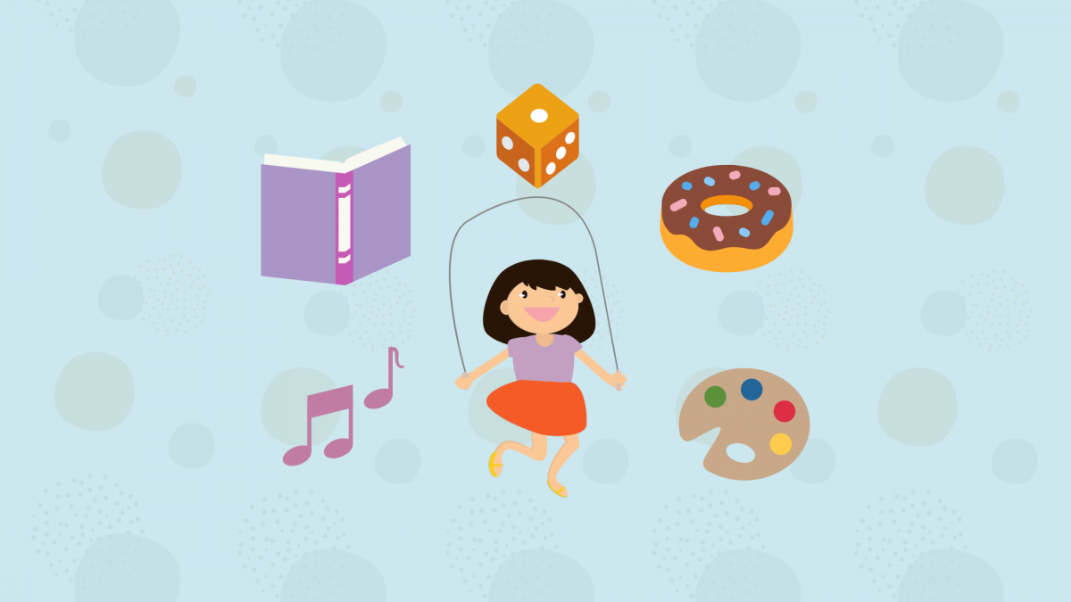 fitness - music - food - arts - education - games