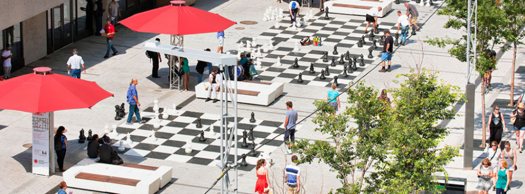 giant chessboards