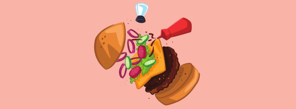 hamburger being made