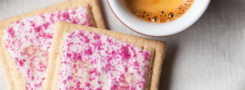 homemade pop tarts and coffee