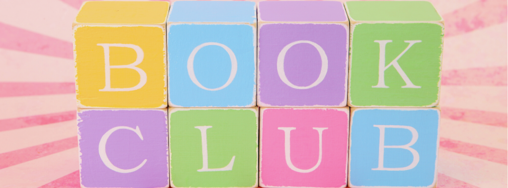 blocks spelling out book club