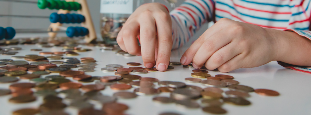 kid with pennies