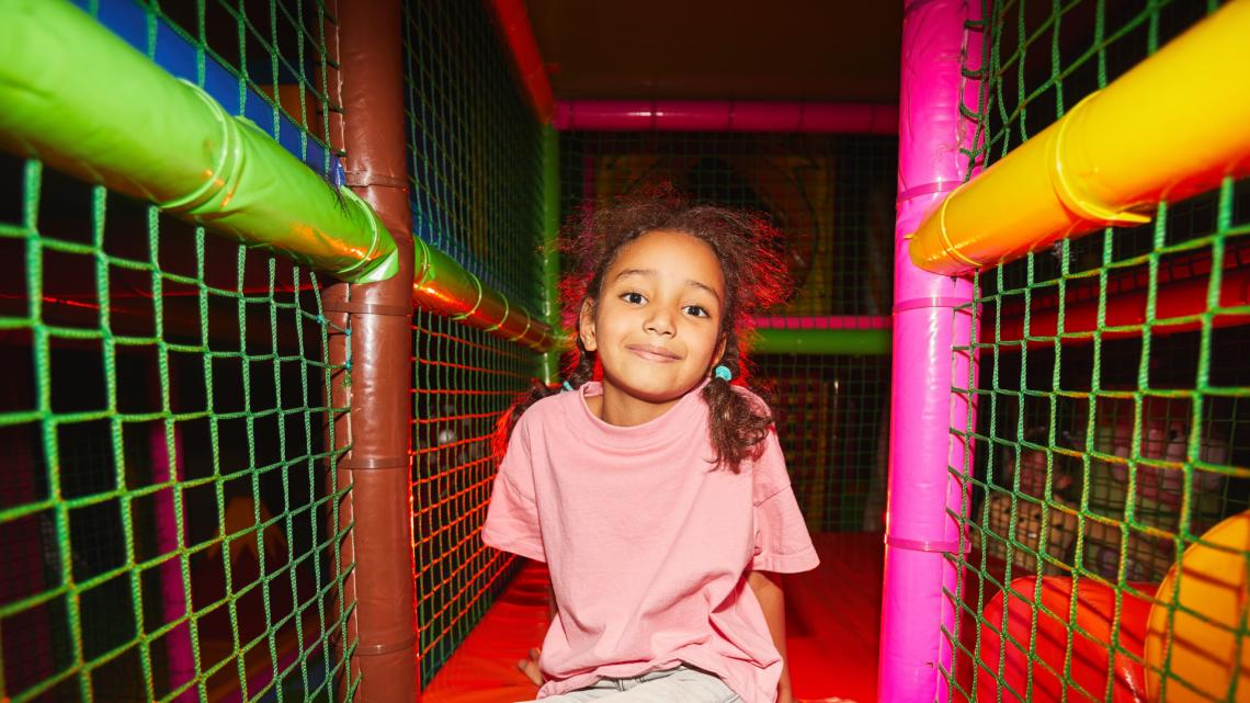 kid at play center